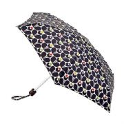 Orla Kiely Tiny 2 Wallflower Multi Coloured Flat Compact Lightweight Umbrella by Fulton
